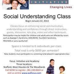 Focus Academy Class Brochure