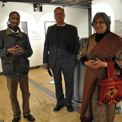 Ela Gandhi, the granddaughter of the late Mohatma Gandhi, captured visiting the Red Location Museum (2010 - Photo: Annette du Plessis)
