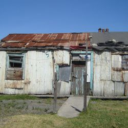 The old George Pemba Family home, in the Red Location vicinity, was unfortunately buldozed over by error, due to housing infrastructure in the area (2009 - Photo: Annette du Plessis)