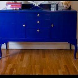 Móvel Laqueação azul brilhante
