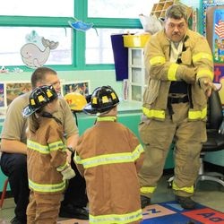 A visit from our local firefighters