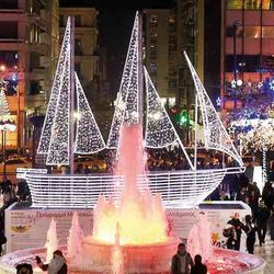 Syntagma square, Christmas in Athens