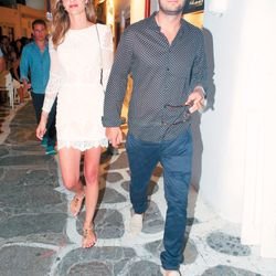 Mykonos streets, July 2016, Ana BeatrizBarros and Karim El Chiaty enjoying vacation time