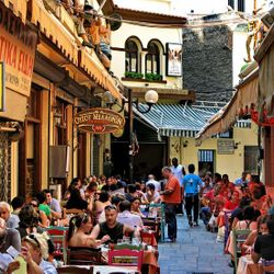 in the streets of Athens, Plaka, Monastiraki