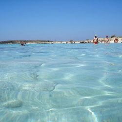 Elafonisi, Crete, pure waters, Greece