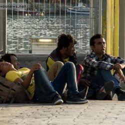 immigrants in Greece port, mytilini , by Greek2m