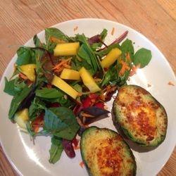Eggocado and salad