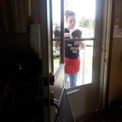 We always clean entry doors