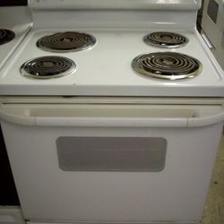 Ge white electric stove range