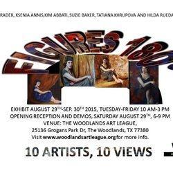 FIGURES 180 SHOW AT THE WOODLANDS ART LEAGUE UNTIL SEP. 30TH/15