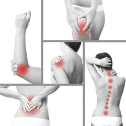 Pain Locations resolved with Trigger Point Therapy