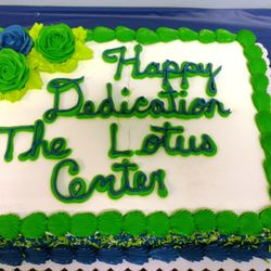 Thanks to Board President, Kristen Niles for the beautiful cake to celebrate our dedication service!