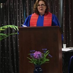 Rev. Diana Friedell at the Chartering Service 6-3-17