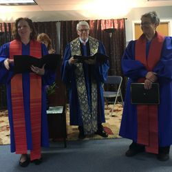 Rev. Sue Landon and Rev. Diana Friedell are installed as Ministers at the newly chartered ISD Oneonta, 6-3-17