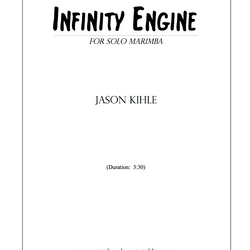 My third composition, Infinity Engine, is now available from Bachovich Publications.