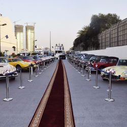 Display of antique cars collection of Bin mansi group at boat show 2016