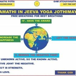 If we activate Free Breathing through God Yoga, Sivamathiyin Jeevayogam, Desire will be Left, Negative Point will remove, Happiness will Increase, Award will be Got & can see Universe Creator.