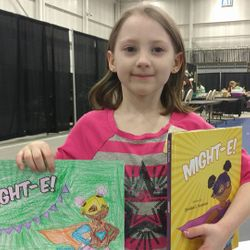 MightE Hero Adeline, winner of the first ever Might-E Coloring Contest!