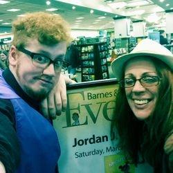 Jordan and Mom (she cried when she first heard him read it)