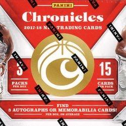 2017/18 Panini Chronicles Hobby Box $219.95