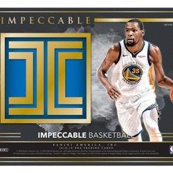 NEW! 2018/19 Panini IMPECCABLE Hobby Box $770.00
