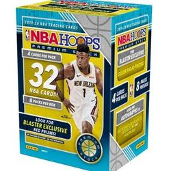 2019-20 Panini NBA Hoops Premium Blaster Box $125.00