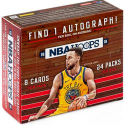 2018/19 Panini NBA HOOPS 24-Pack Retail Box $74.95