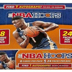 2019-20 Panini NBA Hoops 24-Pack Retail Box $375.00