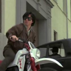 Jackie Chan is Motorbiking