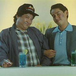 Sammo with Alan Tam in Pantyhose Hero