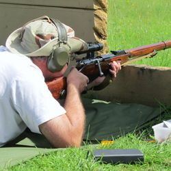 Russian Mosin Nagant sniper rifle