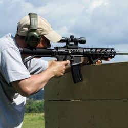 AR15 straight pull rifle in .30 M1 carbine