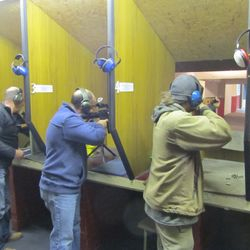 members shooting gallery rifle