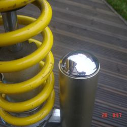 Polished cap for older R1 shocks