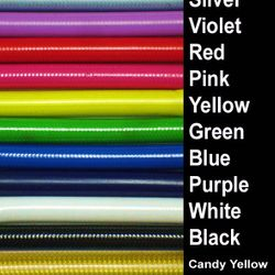 Colours of the disc hoses we make up in-house