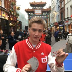 LEON the magician performing in CHINA TOWN.
