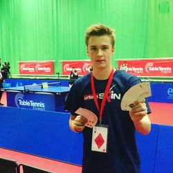Leon Thomson the resident magician for Table Tennis England, performing at the National Championships.