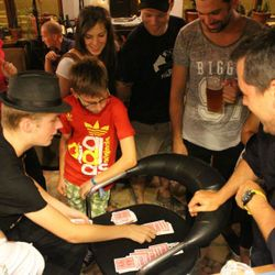 Leon The magician in hungary performing magic