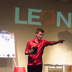 LEON the magician live on stage, one man show.