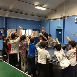 Leon The Magician coaching table tennis