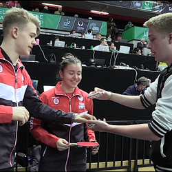 LEON THE MAGICIAN AT ITTF WORLD TEAM CUP 2018