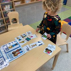 Site: 219 25th Street Class: PK 117  Students in PK 117 are learning through play during center time.