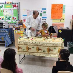 "Site: 219 25th Street  Today we had a Bread Making Workshop with ""Professor Bread"". The children learned how wheat becomes bread and acquired new skills as they churned butter, kneaded dough, and ground wheat."