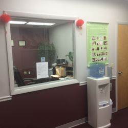 Acupuncture office reception room