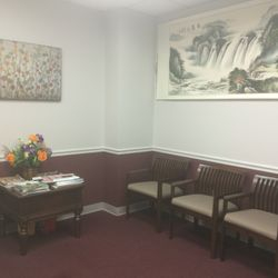 Waiting room of acupuncture office