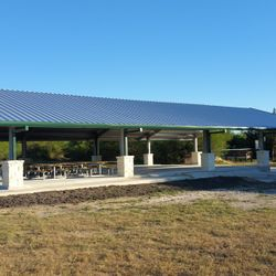 Work is almost complete on the new large pavilion at the parade ground.
