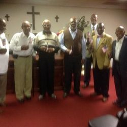 Brothers of Logos Baptist who served in the war. Missing in this photo but not forgotten is Brothers Wills and White. I salute you two brothers too.