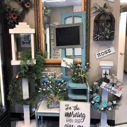 We offer a variety of locally made gifts and home decor. Feel free to stop by anytime and take a look!