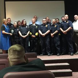 2-Unit crews from MCEMD & CTJFD receiving an Ohio EMS Star of Life Award 2017
