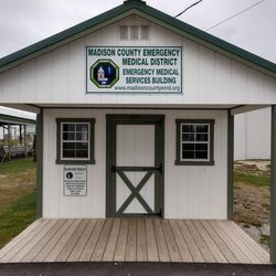 MCEMD Fair building, Located at the Madison Co Fair grounds helps us have a location to provide care during any events while keeping our Medics in-service for the district.